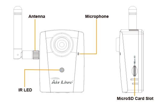 smart home camera 720p day  night wireless ipcam  cube ipcam
